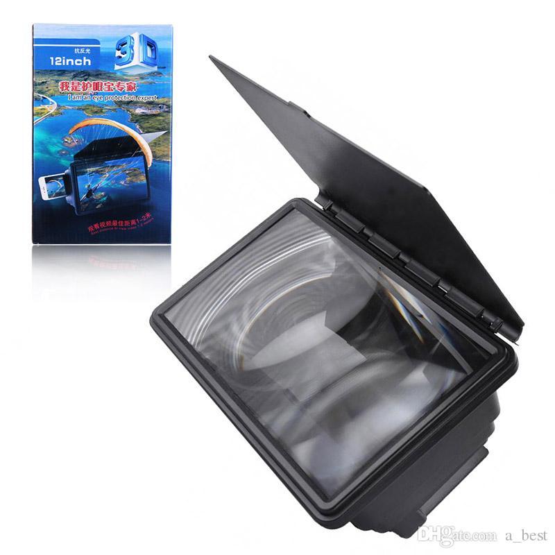 الهاتف الخليوي شاشة فيديو HD المكبر قابل للتعديل 12 بوصة مكبر للصوت عالية الوضوح ترقية العرض فيلم 3D المتوسع الاكريليك حامل حامل