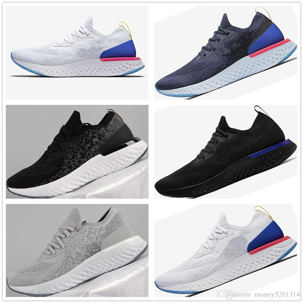 Plus récent épique réagir Chaussures occasionnels Fly Knitting Upper Vamp Sport Boost Hommes Femmes Chaussures occasionnels doux design mousse Amorti Sneakers Athletic