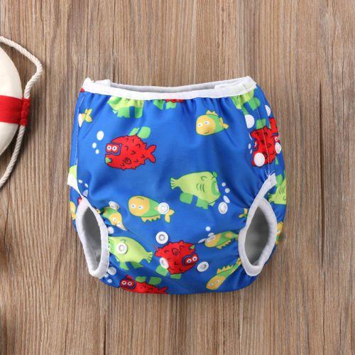 Pudcoco Baby Bebek Erkek Kız Bebek Swim Nappy Bezi Baskı Hayvan Sızdırmazlık Yeniden kullanılabilir Ayarlanabilir Şort