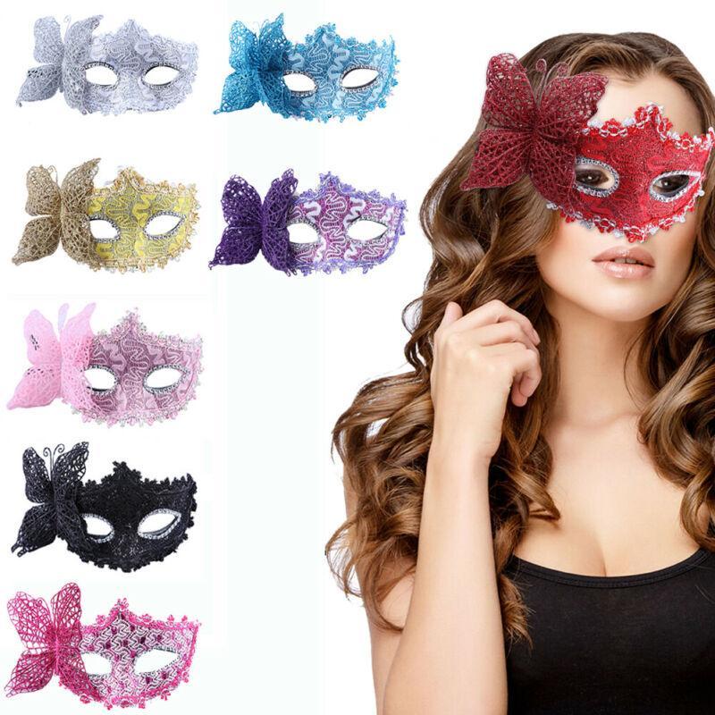 Seksi Dantel Maskesi Masquerade Göz Yüz eyemask Kadınlar Partisi Cadılar Bayramı Noel