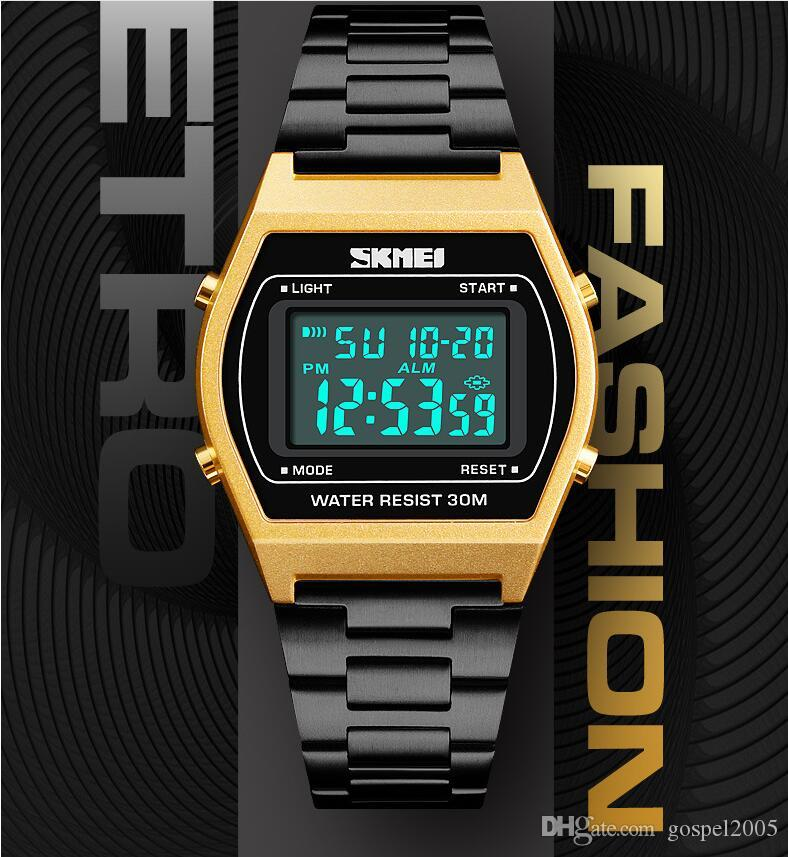 B64 Free shipping F-91W Fashion Ultra-thin LED Wrist Watches F91W Men Women Sport watch A159W new