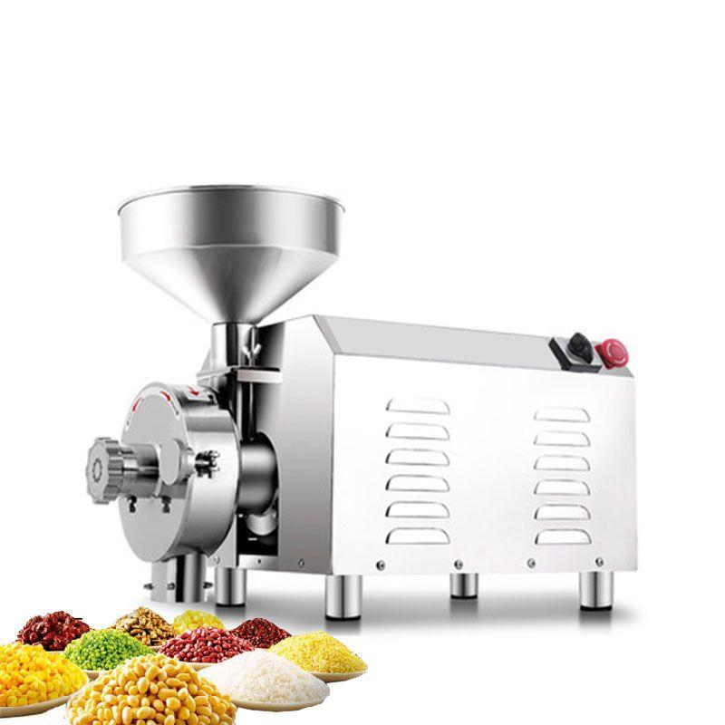 BEIJAMEI 3000W comercial harina de grano molino molinillo de acero inoxidable arroz chile fresadora polvo tuerca de molienda