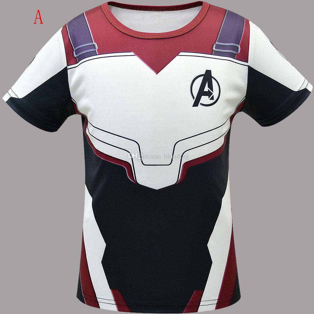 The Avengers 4 Endgame Superhero 3D Short Sleeve T-shirt Shirt Cosplay Tops Tee