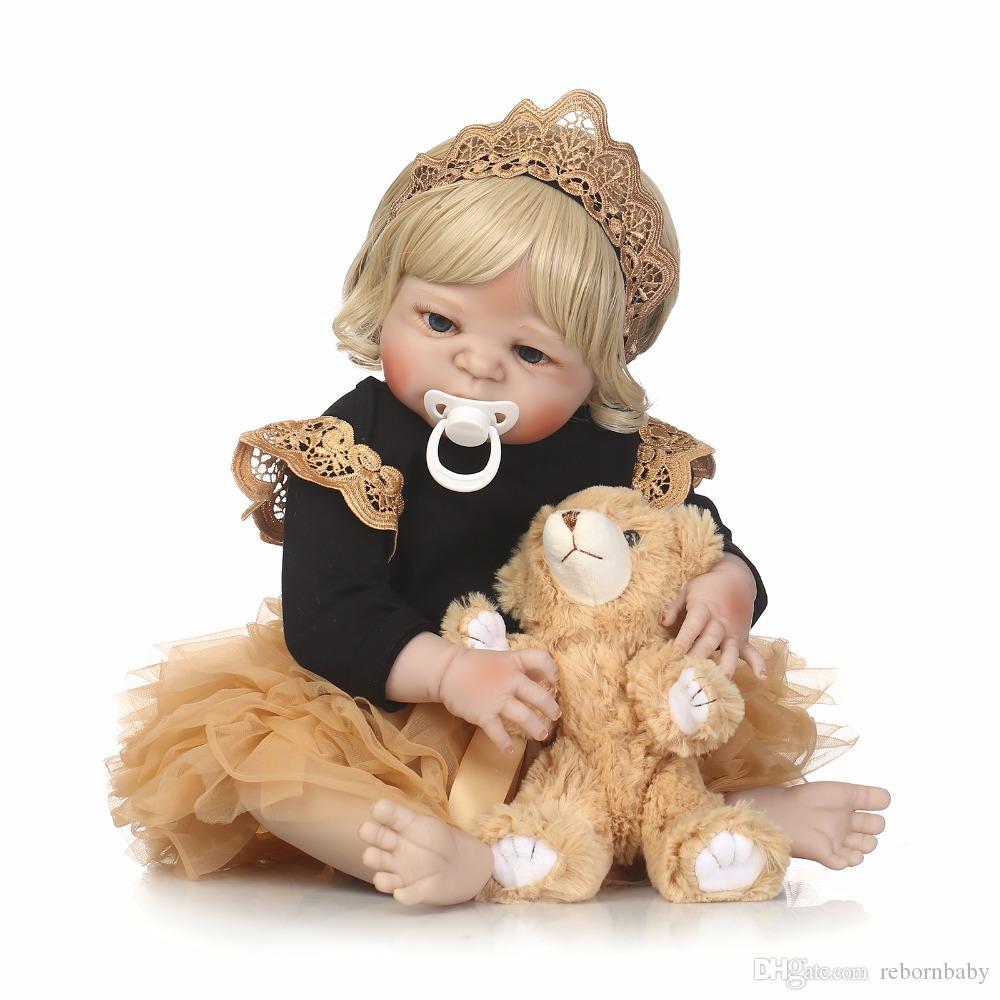corps entier silicone renaissant Baby Doll fille Newbron Lifelike Baby-Doll Princesse Réincarné meilleur cadeau pour fille mieux accompagner