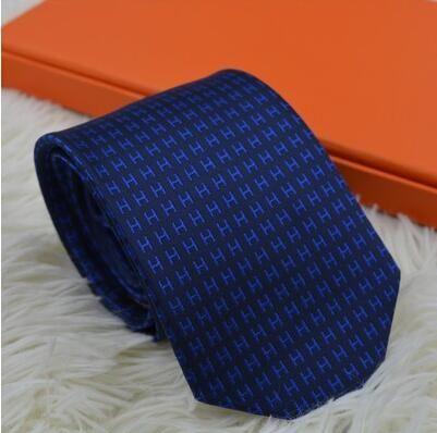 New luxury men's silk ties 100% silk tie yarn-dyed tie wedding business high-end gift box tie 7.0 cm