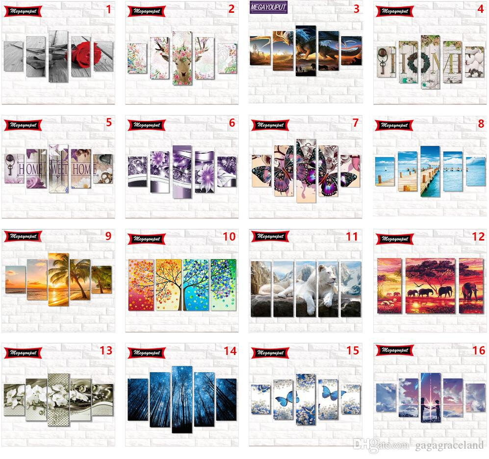 5 Loading Full 5D Diamond Painting Kits Embroidery Cross Stitch kits living room mosaic pattern Home Decor New Styles