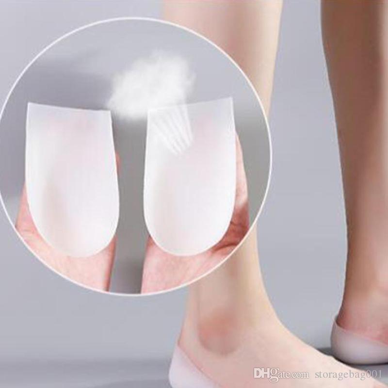 Unsichtbare Aufstockung Einlegesohle Socken Erhöhte Pad Heel Pad Halb Silikon erhöhen Artifact für Frauen Tropfenverschiffen Schuheinlagen