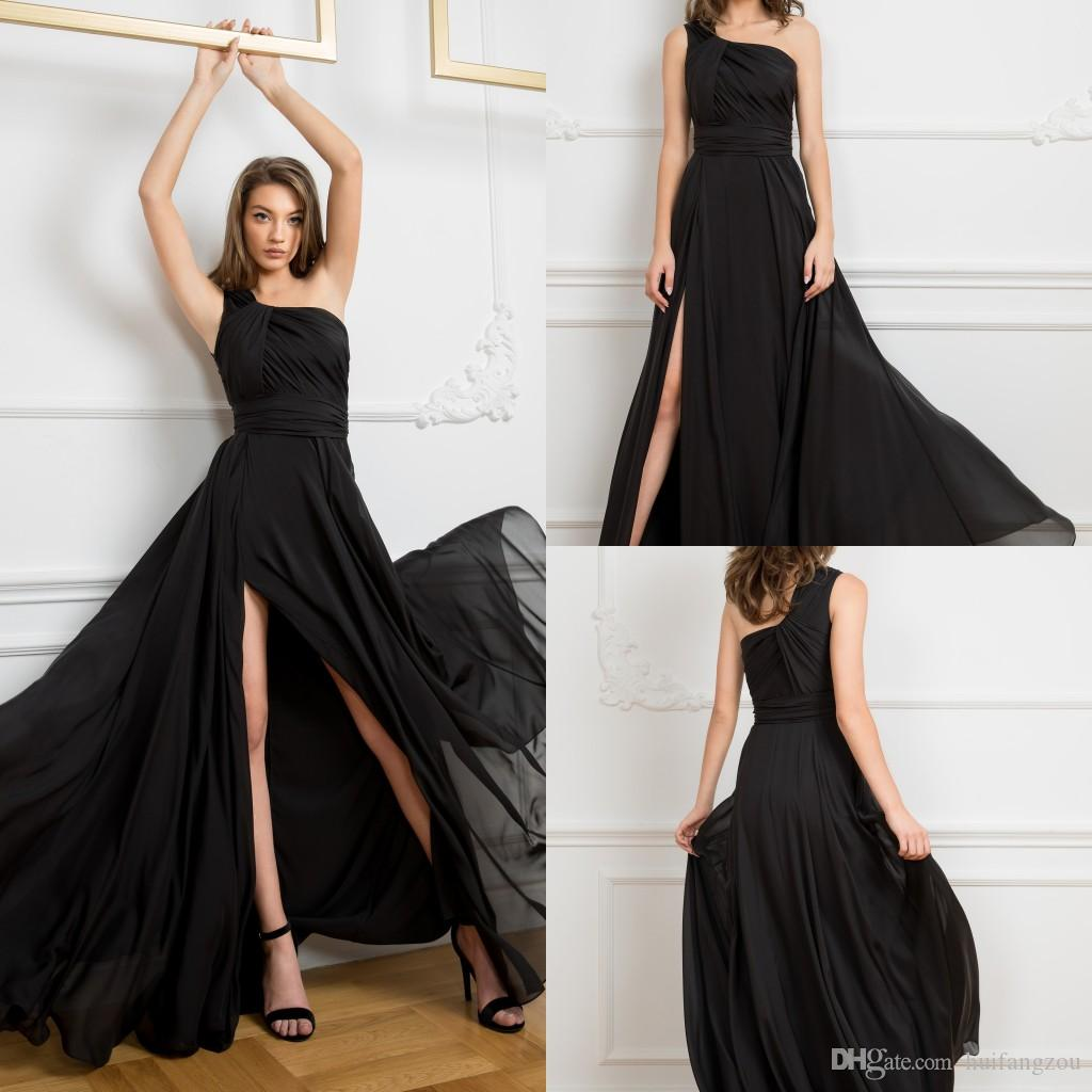 Cristallini A Line Split Prom Dress One Shoulder Formal Prom Dresses Party Event Gown Custom Made Long Evening Dress Plus Size