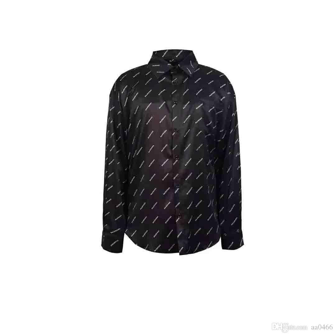 Новый 2019 мода мужская тенденция вскользь 3D классический цифровая печать с длинным рукавом мужская рубашка Medusa LM-2XL