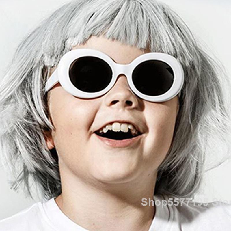 Niños lindo marco óptico de los vidrios del niño oval colores puros gafas de sol de la fiesta de cumpleaños Decoración Niños Fantasía Infantil