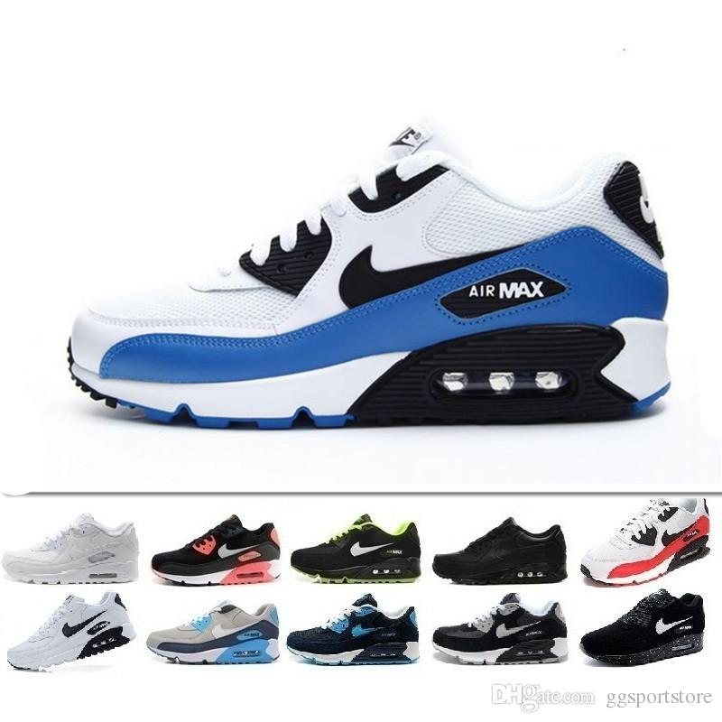 2019 Men Shoes Classic 90 Men and woman Shoes Trainer Air Cushion Surface Casual Shoes 36-45 ggsportstore