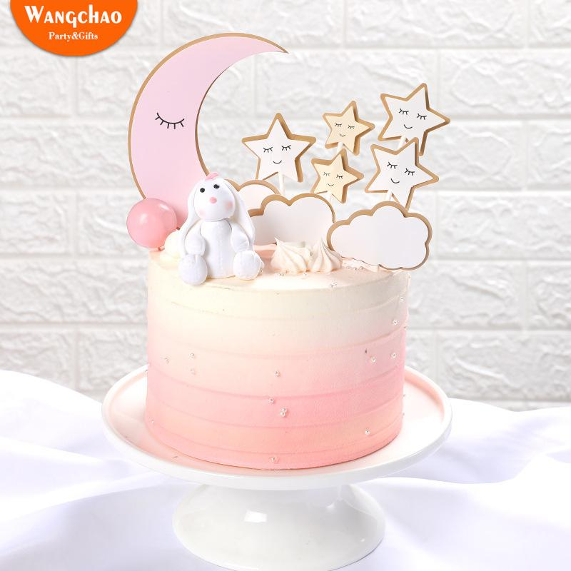 Cool 2020 Moon Star Clouds Birthday Party Cake Decoration Twinkle Birthday Cards Printable Nowaargucafe Filternl