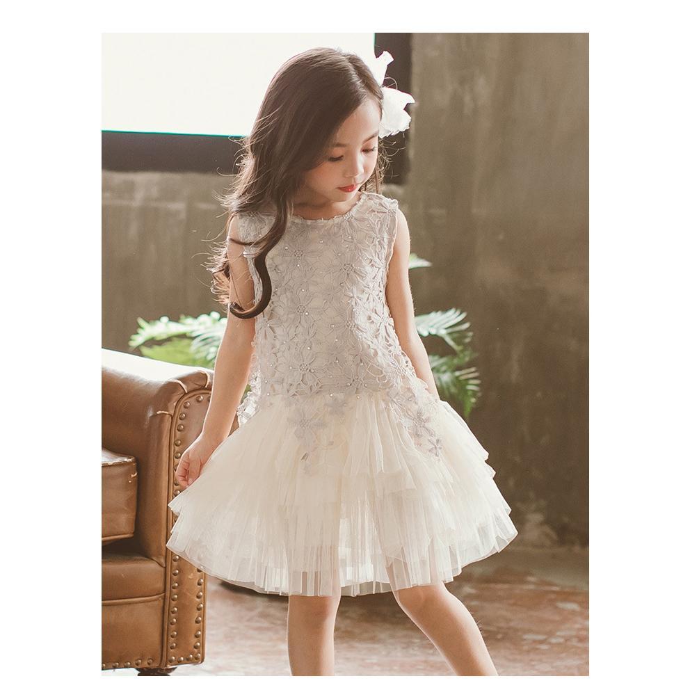 Muchachas de la manera vestidos de verano de los niños Casual Brand Lack vestidos de princesa muchachas del vestido sin mangas diseñador lindo del estilo de los vestidos de dulce 2020