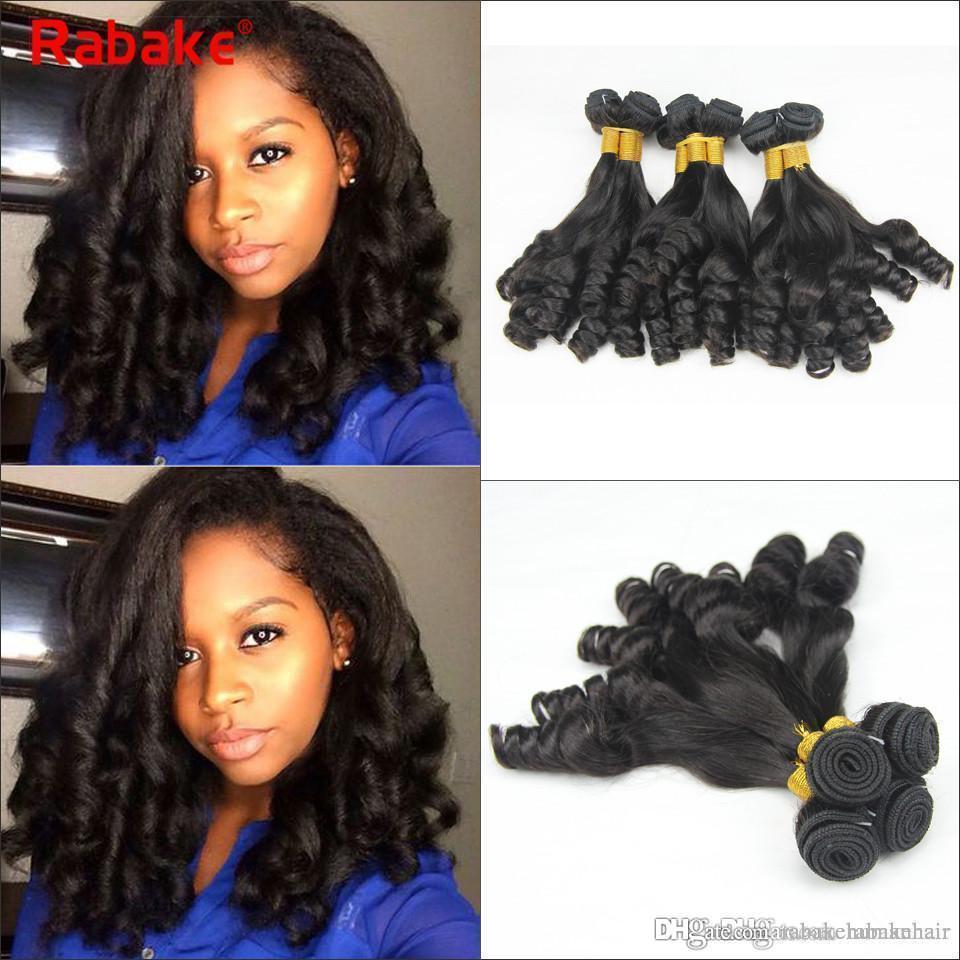 Aunty Funmi Boucy Curl Brazilian virgin hair bundles Rabake 100% Unprocssed Human Hair Bundles Deals Wholesale Cheap Fumi Curly Weaves