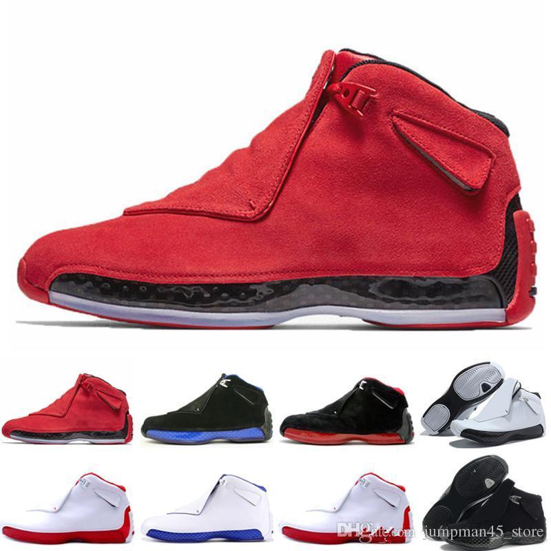 Nike jordan retro 18 18 18s Zapatillas de baloncesto para hombre Toro Cool Gris Sport Royal Suede Blue Yellow Orange diseñador para hombre Zapatillas deportivas de deporte 7-13