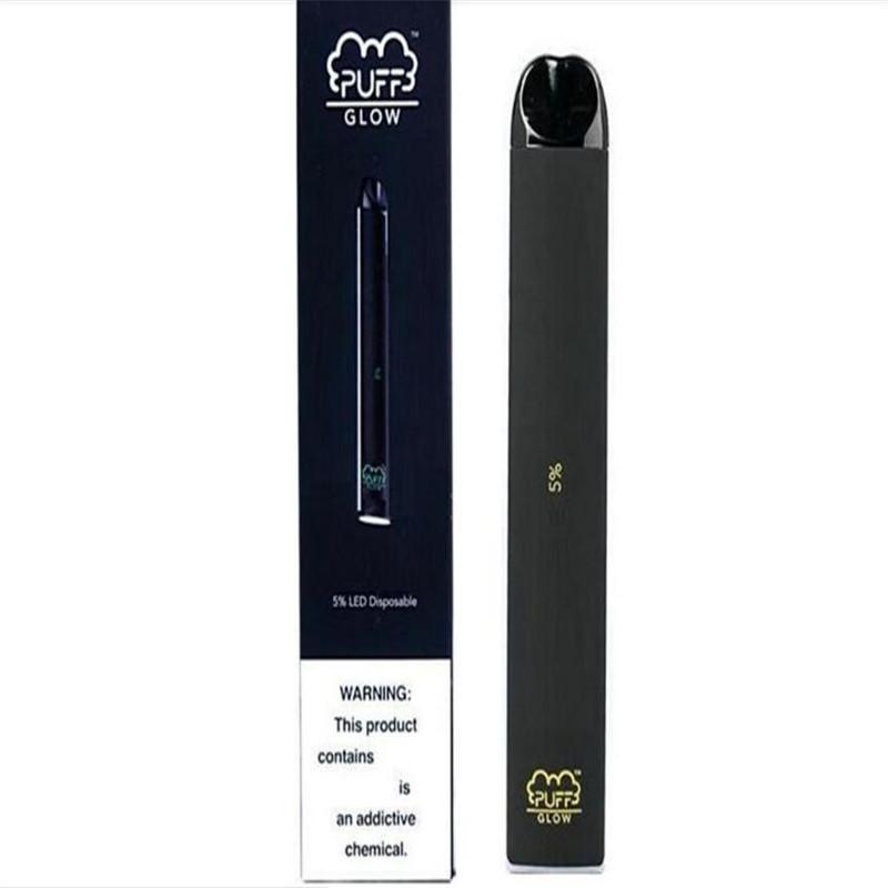 todo en una pluma vape cigarrillo electrónico desechable puff bar resplandor vaporizador kit sabores de frutas e cigarrillo con iluminación LED vaping auto