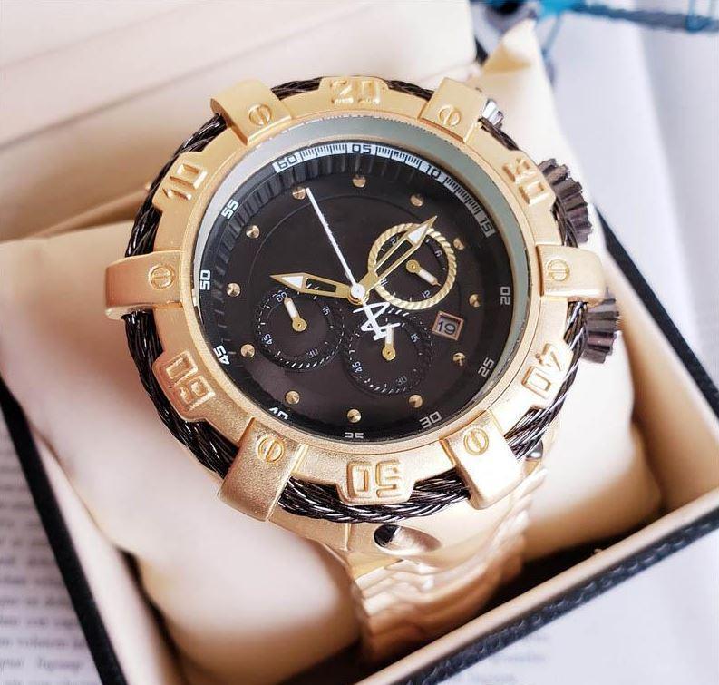 4 Couleur Big Dial Luxury Designer Montres Tous Mode Dial travail Quartz Hommes d'affaires Montres-bracelets en acier inoxydable Montres Cadeaux Creative