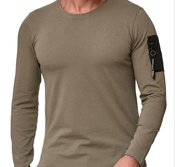 2020 Hot Style de leTShirt d'homme Seves Casual Mode lâche autour du cou couleur pure style Concise
