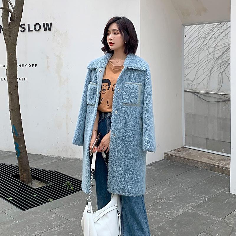 100% Wool Jacket Autumn Winter Coat Women Clothes 2020 Real Fur Coat Korean Sheep Shearling Women Tops Manteau Femme ZT3903