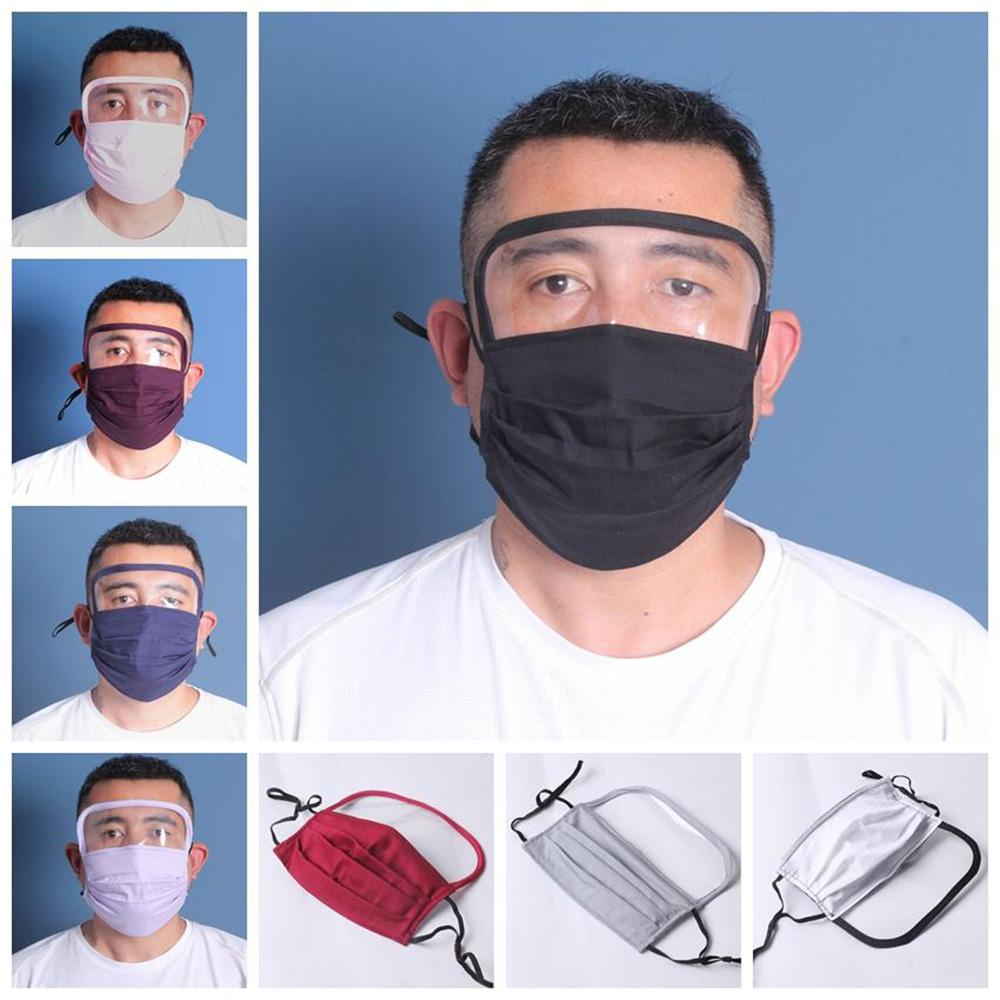 2 in 1 Face Shield Mask Anti Dust Face Masks Full Face Protection Anti Fog Washable Reusable Mouth Cover PM2.5 Protective Mask