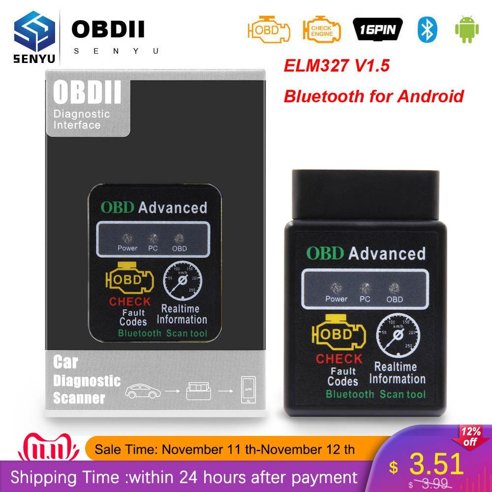 ELM 327 V1.5 HH OBD for Android obd2 Bluetooth Scanner ELM327 OBD OBD2 Car Diagnostic tool elm327 V1.5 Code Reader 2 Scanner