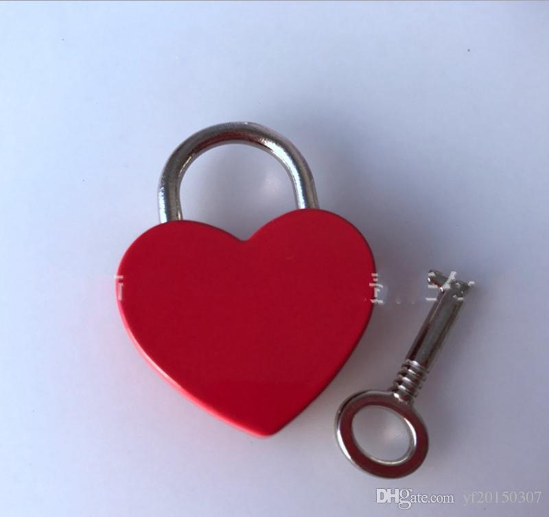 하트 모양의 사랑 잠금 미니 자물쇠 짐 하드웨어 보안 도난 방지 버클 결혼 선물 호의