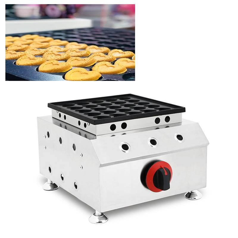 Mini machine à crêpes hollandaise en forme de coeur 25 trous Baby Poffertjes Maker Gril Pan Petit Plaque de Fer Crêpé