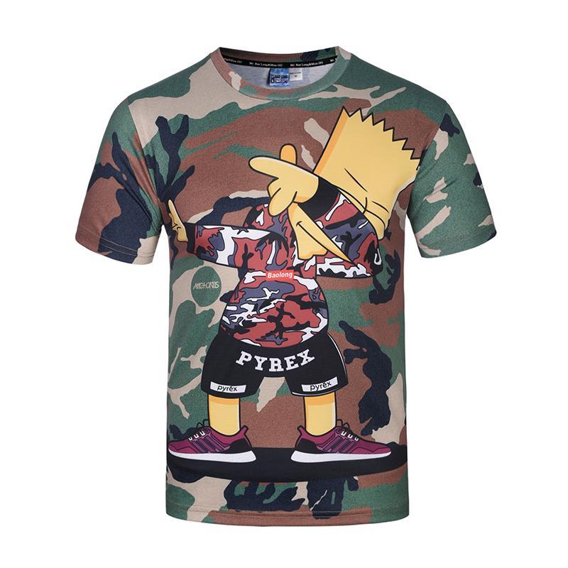 Fashion-2018 Модная мужская / женская футболка с принтом в стиле хип-хоп стильная летняя футболка