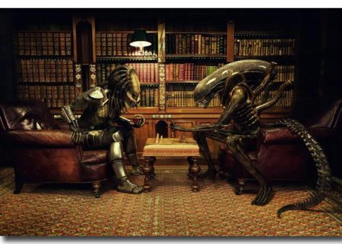 Alien vs Predator Movie wall decor Art Silk Print Poster 88