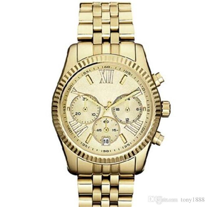 Trasporto di goccia M5555 M5556 M5569 M5708 M5709 M5735 M5955 Top quality orologio al quarzo da donna in acciaio inossidabile da polso + scatola originale