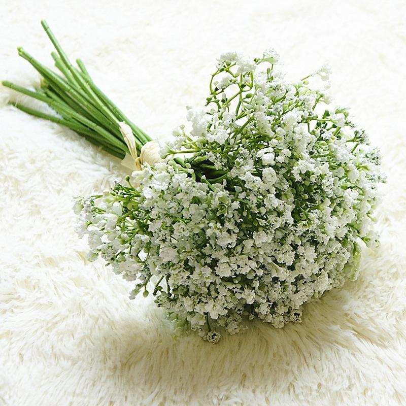 Babysbrathth الزهور الاصطناعية وهمية الجبسوفيلا diy باقات الأزهار ترتيب الزفاف المنزل حديقة حزب الديكور 16 قطع لكل مجموعة