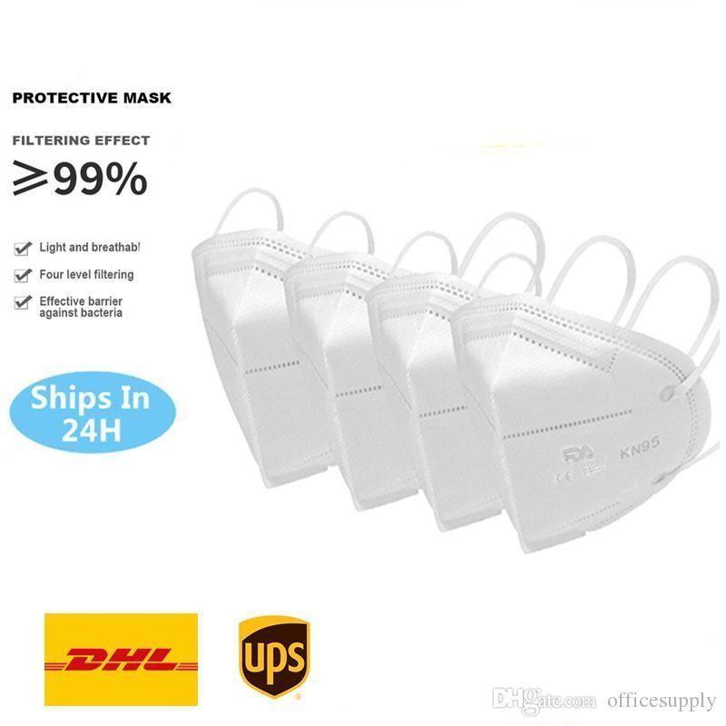En stock! Masque Visage pliant avec certification qualifié Masques Anti-poussière sans gros Livraison rapide par DHL FY0006 08