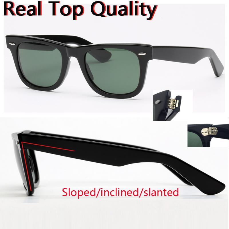 2140 Gezgin Cam Güneş Gözlüğü Lens Kadınlar Gerçek Tahta Çerçeve Güneş Gözlükleri Erkekler Gözlükler Için Flaş Sol 54mm Boy Sun 50mm Ayna Gafas u Iubr