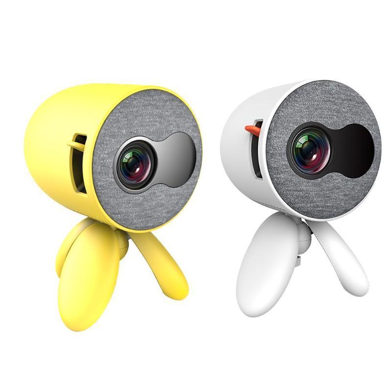 YG220 Mini Projecteur 480 * 272 pixels Prise en charge 1080P Lecteur Mignon Portable USB HDMI Projecteur Vidéo tête réglable pour enfants cadeau