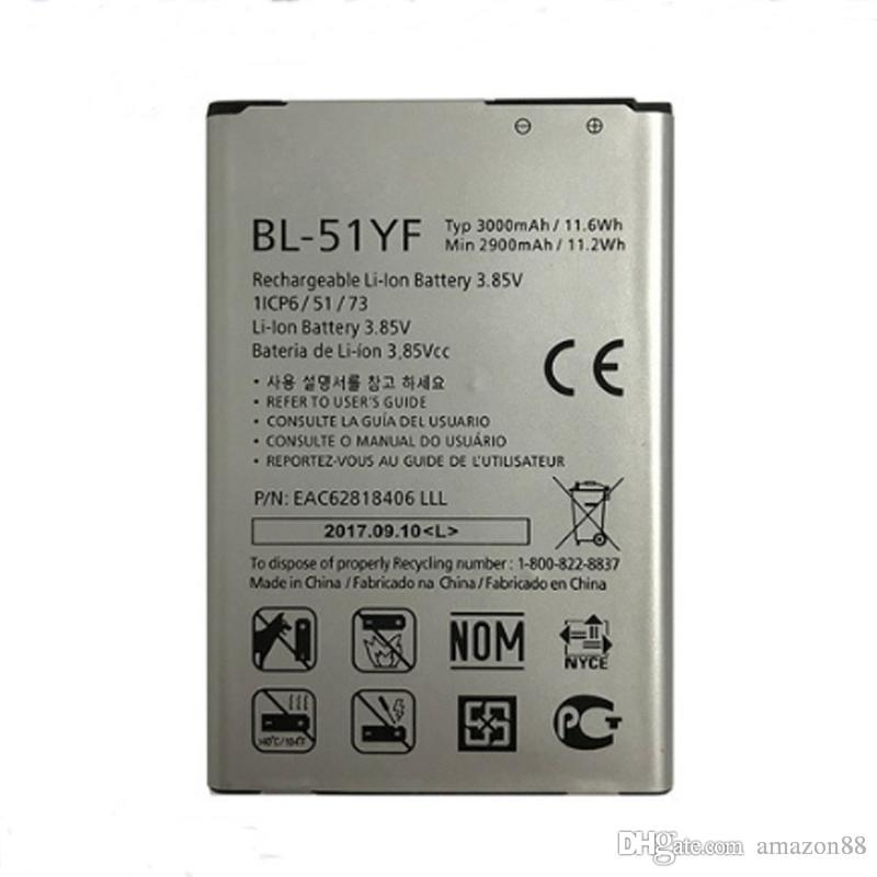 LG G4 H818 H815 H819 H810 H815 H811 VS986 VS999 US991 LS991 F500 pil için Yüksek G4 BL-51YF Pil 3000mAh