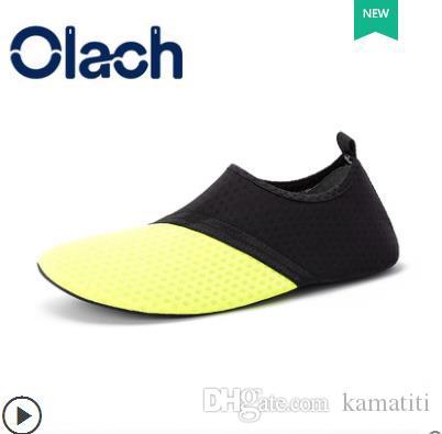 أحذية صفراء حذاء رياضة السباحة الرياضات المائية أكوا شاطىء البحر شاطئ التزحلق النعال المنبع رياضية الأحذية النسائية الاطفال