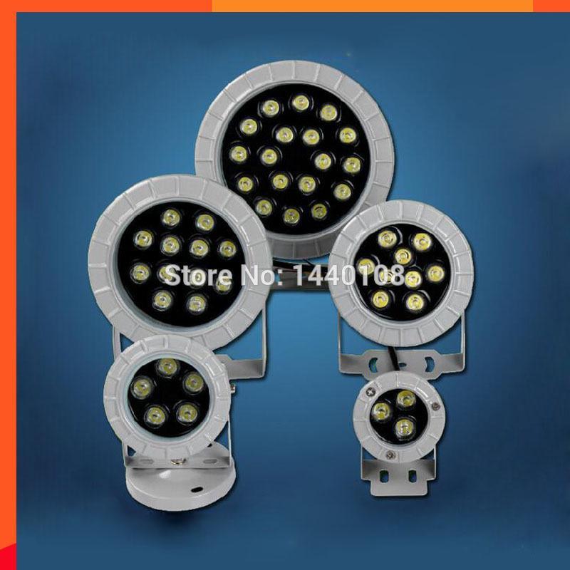 10 pçs / lote 12 w LED Projetor IP65 Jardim Ao Ar Livre À Prova D 'Água Quintal Do Gramado Praça Elenco Foco De Alumínio LEVOU Luz Exterior Do Ponto