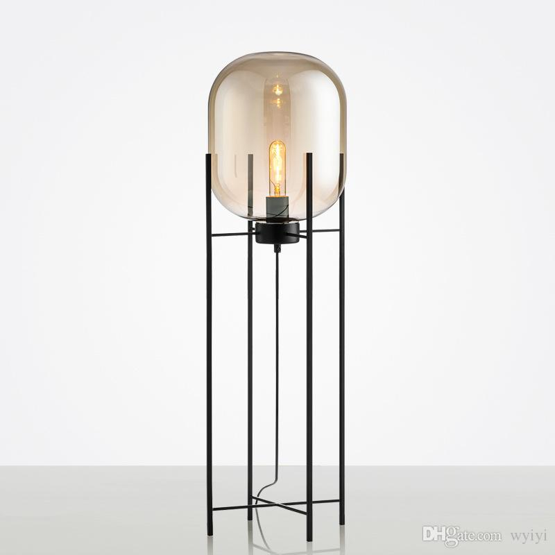 2020 Modern Glass Led Floor Light Vloerlamp Standing Lamp Standing