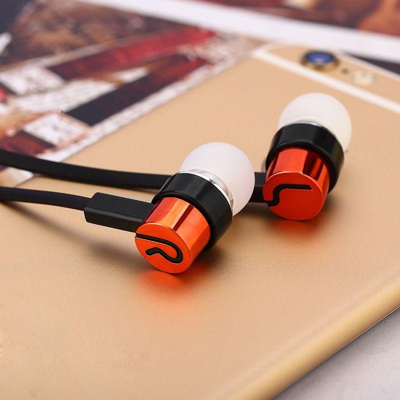 Écouteurs câblés 3.5mm à l'oreille Écouteurs Stéréo Stéréo pour iPhone 6s Plus Samsung S8 S9 S10 Huawei Smartphones