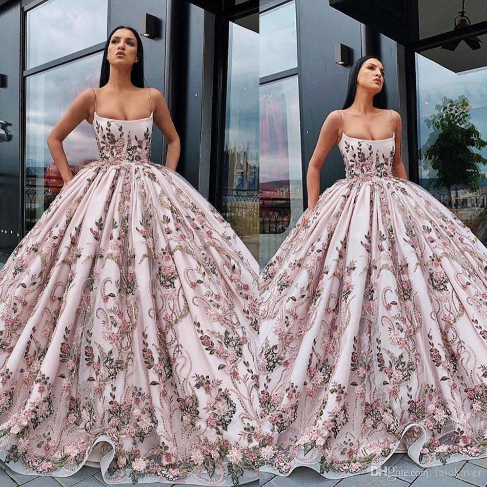 2019 Vestido De Baile Vestidos Formais Spaghetti Lace Appliqued Até O Chão Vestido De Noite Lindo Custom Made Vestido Especial Vestido De Baile