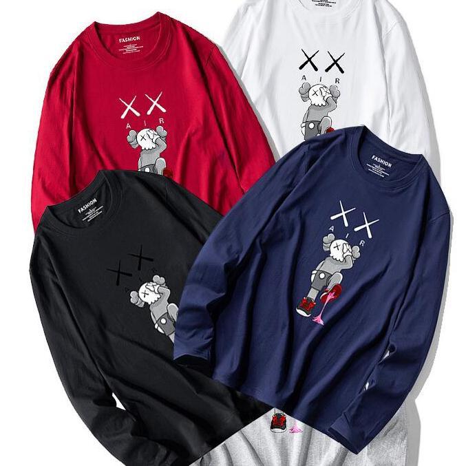 2020 Printing Cartooon KAWS cappuccio 19FW Mens cotone di alta qualità a maniche lunghe Felpe con cappuccio autunno abbigliamento invernale