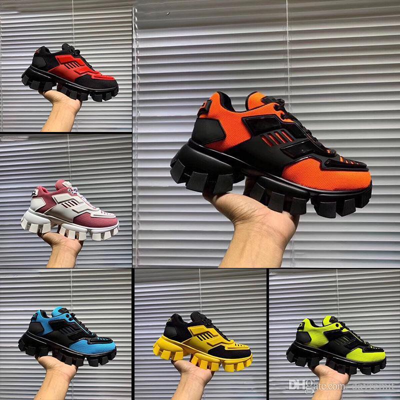 المتضخم مصمم الرجال 2019 المرأة في Cloudbust الرعد الساخن رجل جديد متماسكة الأحذية النسائية خفيفة الوزن المطاط وحيد أحذية 3D عارضة