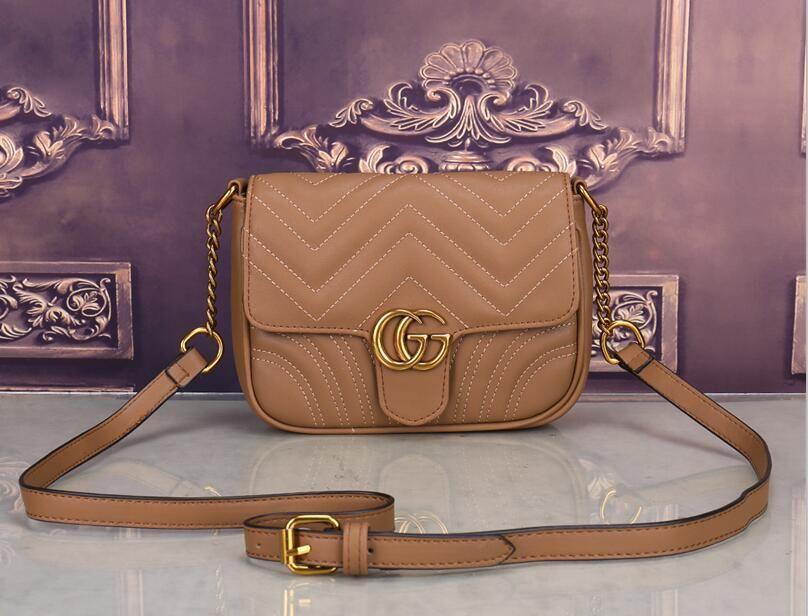 borse a tracolla donna di alta qualità 2020 borse del progettista Moda Rivet sacchetto esterno accessorio catena inclinato bar portafoglio trasporto libero J021