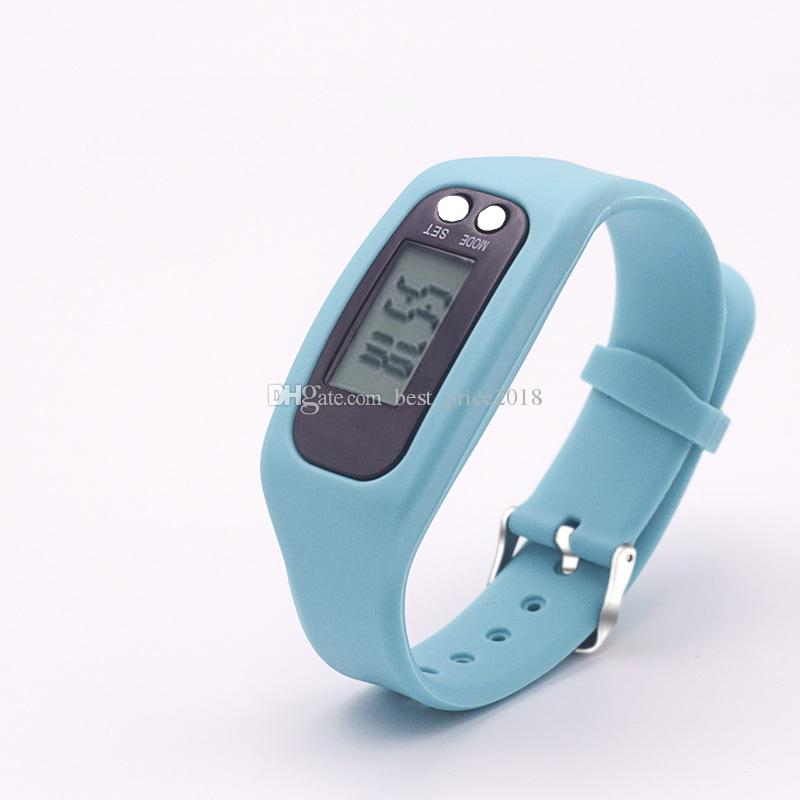 Led intelligent fashion sports pedometer bracelet watch