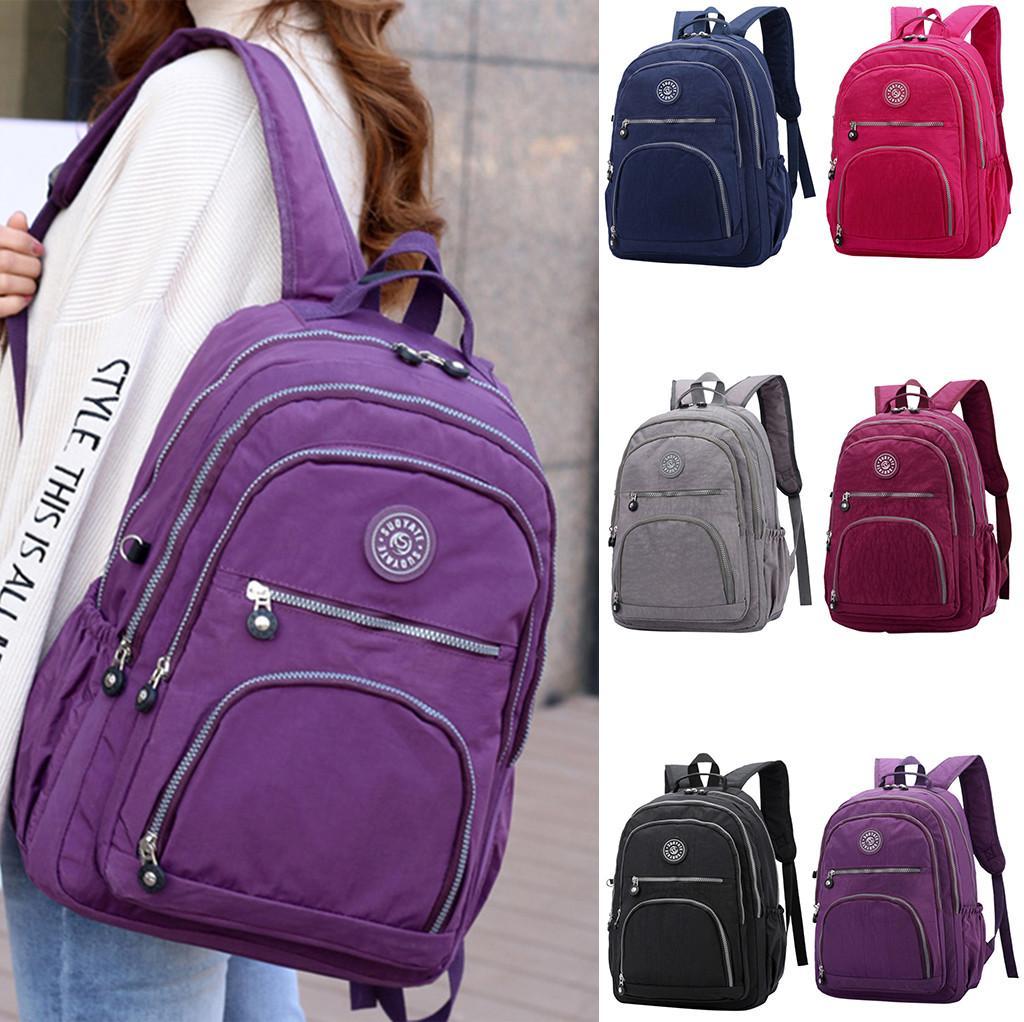 40 # Mulheres Homens Bags Hot Nylon Mochilas CWaterproof escola para adolescentes meninas Laptop Mochilas Patchwork Mochila Nova 2019