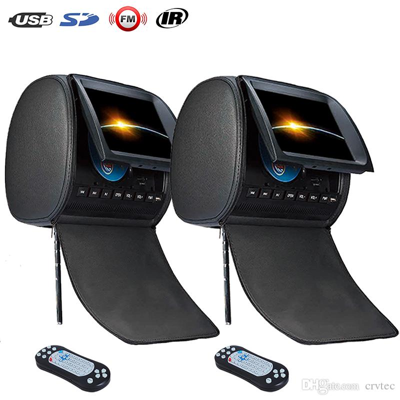 2PCS 9 inch Headrest car monitor DVD Player zipper cover car dvd with USB SD FM IR Game Remote Control
