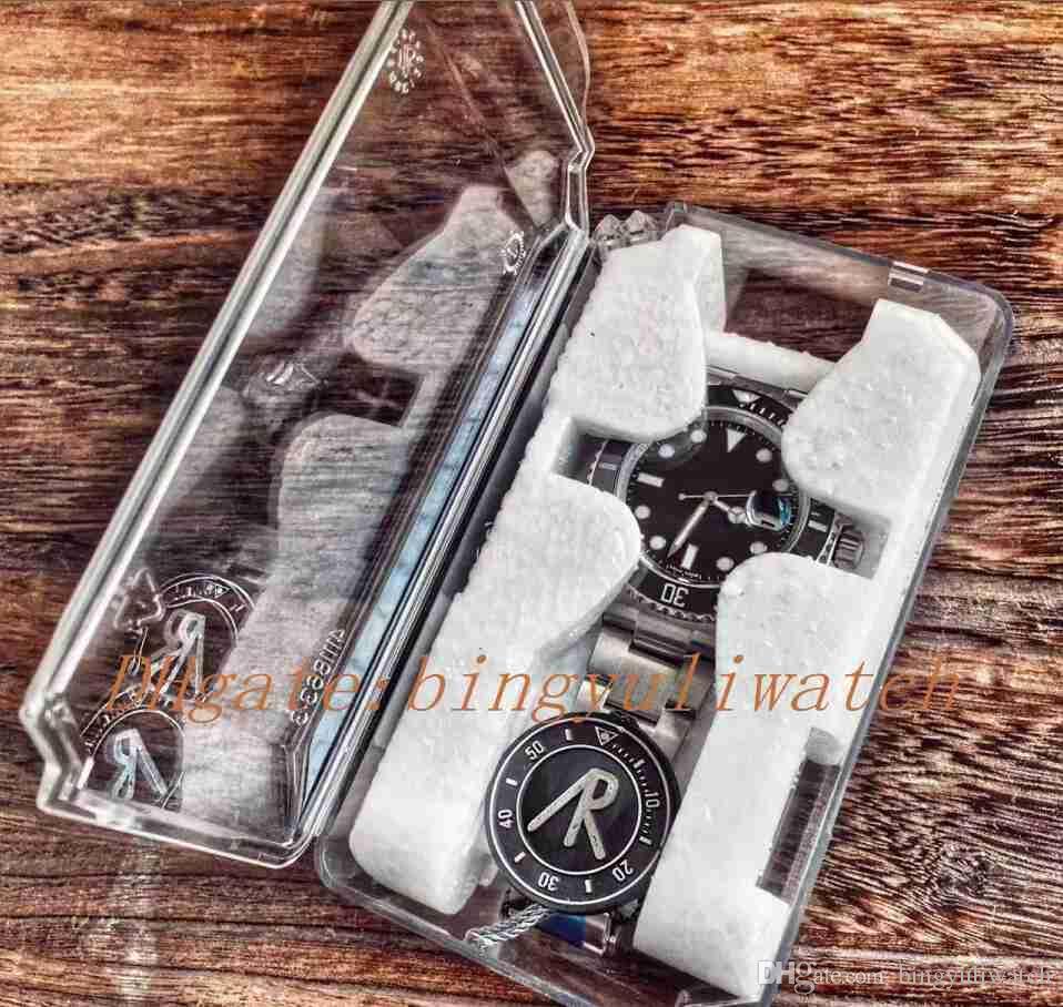 Nuovo ARF V3 Amplia 116610 LN Best Edition A2824 I nuovi uomini neri lunetta in ceramica Dial Sport Water Resistant 904L orologi subacquei Acciaio orologio da polso