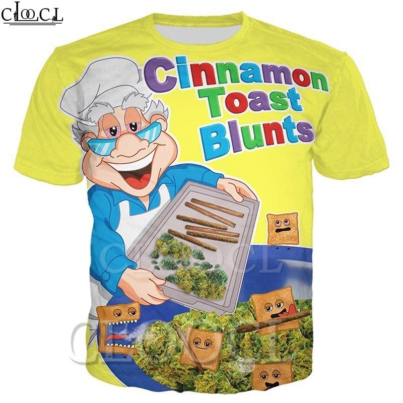 2020 neue Art-Fashion Cinnamon Toast Blunts Männer Frauen-T-Shirt 3D beiläufige Paare Tops Print Short Sleeve