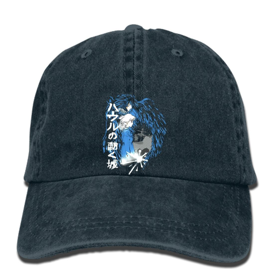 hip hop casquettes de baseball imprimé hommes coeurs chapeau d'un amour en mouvement hurle Hurlements du château Moving Castle cap Femmes
