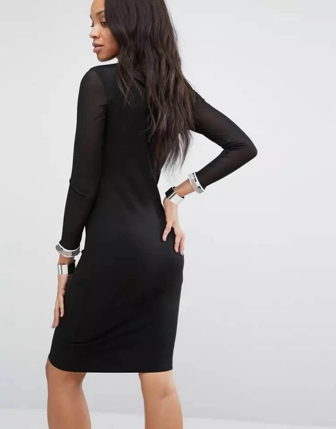 Womens caldo di lusso del vestito del progettista di marca nero sexy abiti di colore del nuovo delle donne breve con lettera stampata P Leopard C0py Abbigliamento YF203102